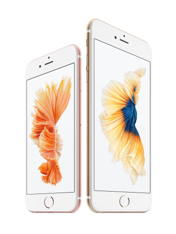 Apple today introduced iPhone 6s and iPhone 6s Plus, the most advanced iPhones ever with 3D Touch and Live Photos. (Photo: Business Wire)