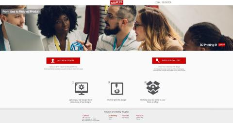 Staples' new online 3D printing platform will let small businesses and consumers upload their own 3D designs or select from a curated assortment of models. (Graphic: Business Wire)
