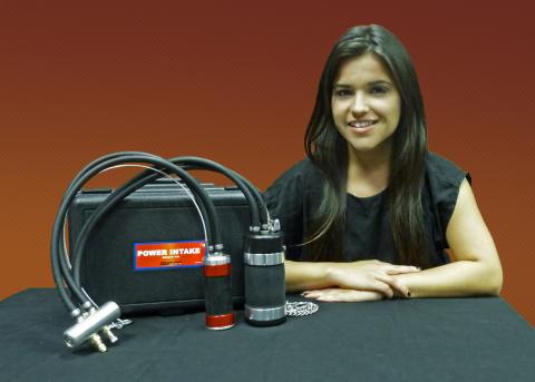 Naomi Rivas with Redline's Award-Winning Power Intake (Photo: Business Wire)