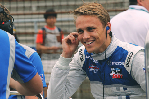 Carlin race car driver Max Chilton races in a Skylanders® SuperCharged vehicle for the season finale of the Indy Lights Championship on September 12-13 at Mazda Raceway Laguna Seca. (Photo: Business Wire)