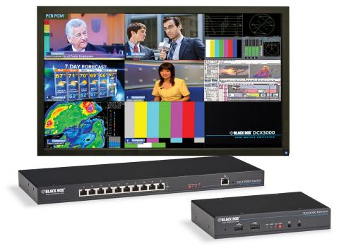 The DCX3000 Digital KVM Matrix switch is a 30-port switch for small-to-medium digital KVM applicatio ...