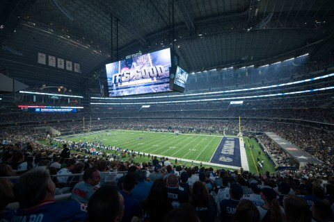 Musco's LED lighting solution provides the optimal fan, player, and broadcast experience at AT&T Stadium (Photo: Musco Lighting)