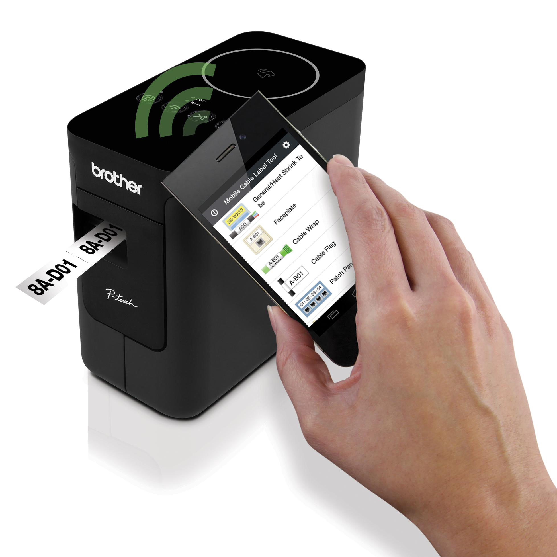 P-touch EDGE(R) PT P750WVP with mobile app enables fast jobsite labeling from iOS and Android smartphones and tablets (Photo: Business Wire)
