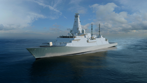 BAE Systems has confirmed its selection as preferred bidder by the U.K. Ministry of Defence to provide the MIFS Integrated Gunnery System for the Type 26 Global Combat Ship. (Graphic: BAE Systems)