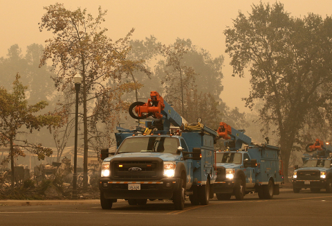 PG&E is working with first responders to safely and as quickly as possible restore service to custom ...