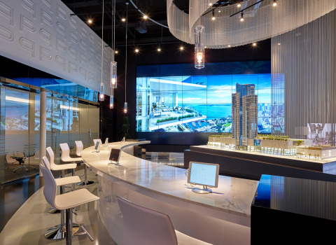 Planar Clarity Matrix LCD Video at the PARAMOUNT Miami Worldcenter (Photo: Business Wire)