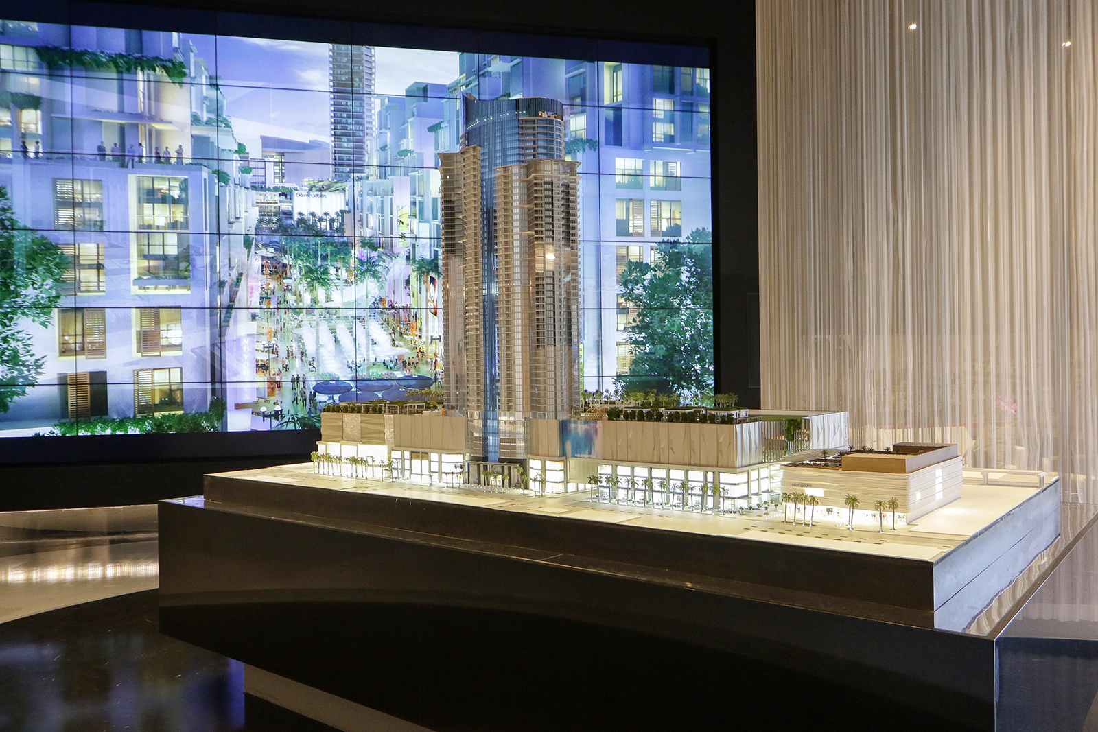 Planar Clarity Matrix LCD Video Wall Helps Sell Condominiums in