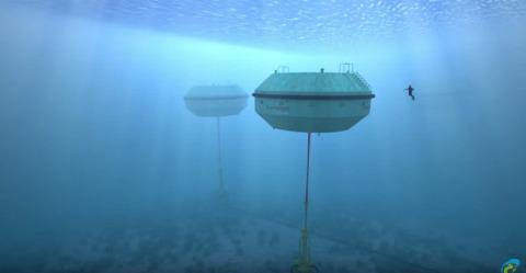 CETO 5 Single Unit: Carnegie Wave Energy's CETO 5 unit design as it will appear off Garden Island fo ...