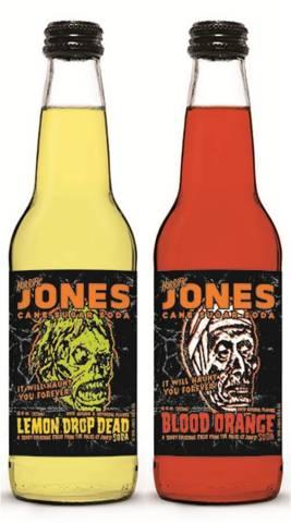Jones Soda Limited Edition Halloween Flavors, Lemon Drop Dead and Blood Orange (Photo: Business Wire)