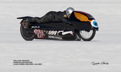Bill Woods, Land Speed Record Holder, at Bonneville