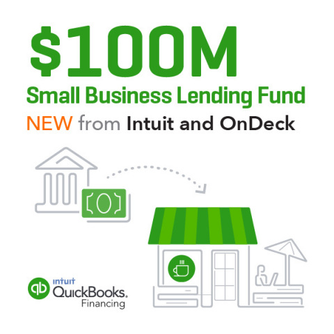 Intuit and OnDeck to Launch $100M Small Business Lending Fund (Graphic: Business Wire)