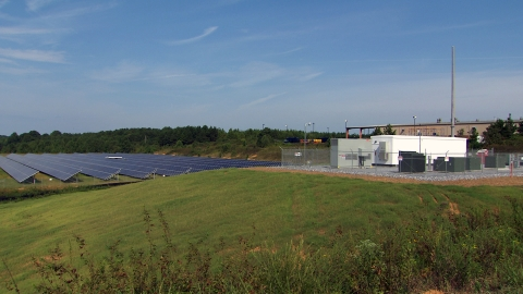 A 1 MW/2 MWh energy storage system powered by LG Chem batteries is ready for operation at a 1 MW solar PV farm in Cedartown, GA. Photo courtesy of Southern Company