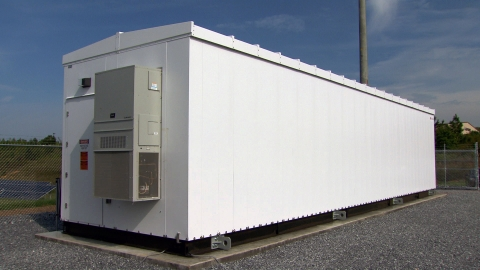 Electrical energy is stored inside this building in Cedartown, GA, using commercially-available, fie ...