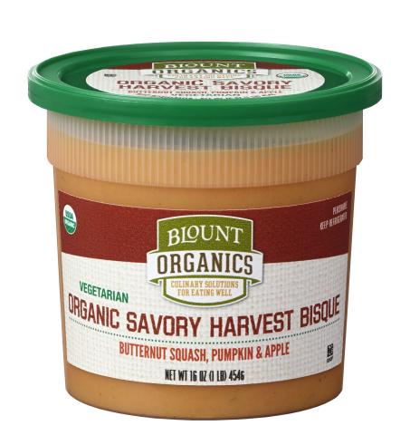 Just in Time for Autumn, Blount Introduces Organic Savory Harvest Bisque Soup at Natural Products #E ...