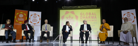 The inter-faith panel comprised of theologians, and experts representing Jewish, Buddhist, Christian, Jain, Sikh, and Hindu communities explores the framework of pluralistic world order for harmony and social justice. (Photo: Business Wire)