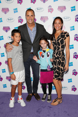 "Nigel Barker and his family attend the 'purple carpet' premiere screening of the ""My Little Pony Equestria Girls Friendship Games"" animated film, held at the Angelika Film Center in New York City on September 17, 2015. Hasbro celebrated the world premiere of ""My Little Pony Equestria Girls Friendship Games,"" a Hasbro Studios full-length animated feature film and the third installment in the beloved MY LITTLE PONY EQUESTRIA GIRLS franchise. (Getty Images for Hasbro)"