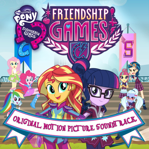 """Hasbro Studios and Sony Music/Legacy Recordings today announced the global digital release of the """"My Little Pony Equestria Girls Friendship Games"""" soundtrack, featuring ten original songs from the movie and the same award winning songwriters and voice talent as the """"My Little Pony: Friendship is Magic"""" animated series. Fans can download the album now at: http://smarturl.it/MLPEG3_Music. (Photo: Business Wire)"""