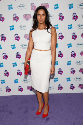 """Padma Lakshmi arrives at the """"My Little Pony Equestria Girls Friendship Games"""" premiere September 17, 2015 at the Angelika Film Center in New York City. Hasbro celebrated the world premiere of """"My Little Pony Equestria Girls Friendship Games,"""" a Hasbro Studios full-length animated feature film and the third installment in the beloved MY LITTLE PONY EQUESTRIA GIRLS franchise. (Getty Images for Hasbro)"""