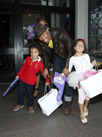 "Nick Cannon and his children Moroccan and Monroe attend the 'purple carpet' premiere screening of the ""My Little Pony Equestria Girls Friendship Games"" animated film, held at the Angelika Film Center in New York City on September 17, 2015. Hasbro celebrated the world premiere of ""My Little Pony Equestria Girls Friendship Games,"" a Hasbro Studios full-length animated feature film and the third installment in the beloved MY LITTLE PONY EQUESTRIA GIRLS franchise (Getty Images for Hasbro)"