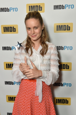 Brie Larson, star of ROOM, receives the IMDb STARmeter Award at the 2015 Toronto International Film Festival on Sept 14, 2015. (Photo: Business Wire)