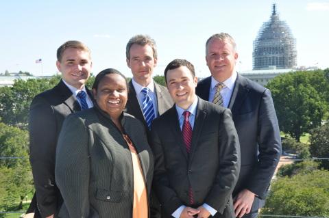 Media General's Washington D.C. Bureau team. Left to right: Alex Schuman, Danielle Gill, Chance Seal ...