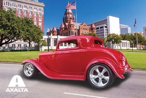 Don Smith's 1932 Ford Coupe built by the late, legendary car builder Boyd Coddington and painted wit ...