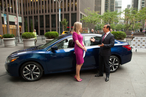 Nissan Chairman and CEO Carlos Ghosn reveals new 2016 Altima in New York City (Photo: Business Wire)