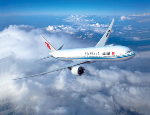 Air China's B777-300ER (Photo: Business Wire)