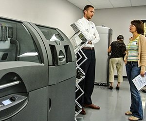 3D Printing Solutions Manager, Aaron Weinberg at the Digital Manufacturing Lab in Santa Clara, CA (Photo: Business Wire)