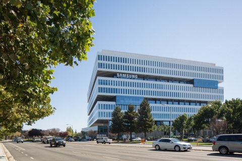 Samsung Electronics Device Solutions America HQ campus occupies 9.4 acres featuring a 10-story office/labs facility.  (Photo: Business Wire)
