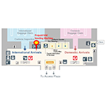 Floor map of Chubu Centrair International Airport Arrival lobby (2F) (Graphic: Business Wire)