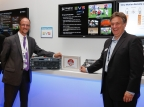 EVS VP of product marketing James Stellpflug and Imagine Communications CTO Steve Reynolds at IBC2015 (Photo: Business Wire)