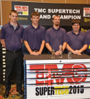 FedEx Freight technicians Kevin Roumpapas, Brian Blevins, Eric Vos and Josh Nordick swept the top four spots at the 2015 TMC SuperTech competition. Vos earned the Grand Champion title. (Photo: Business Wire)