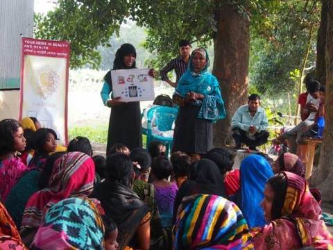 Workshop in the rural area of Bangladesh (Photo: Business Wire)