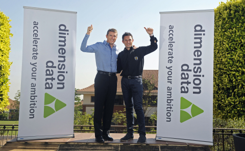 Dimension Data CEO Brett Dawson and Doug Ryder of Ryder Cycling - set to harness the power of technology to drive transformation in the world of cycling (Photo: Business Wire)