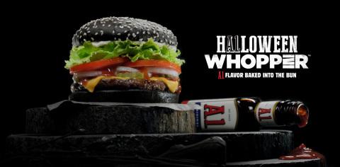 BURGER KING® Restaurants A.1. Halloween WHOPPER® Sandwich (Graphic: Business Wire)