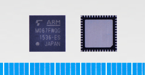 "Toshiba: ARM Cortex-M0 core based microcontroller ""TMPM067FWQG"" with built-in USB device controller  ..."
