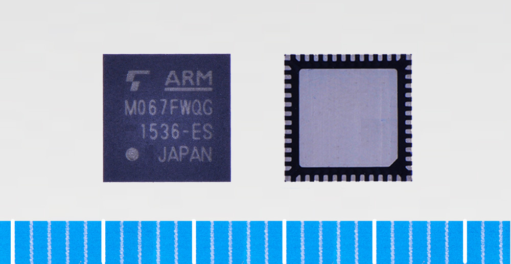 """Toshiba: ARM Cortex-M0 core based microcontroller """"TMPM067FWQG"""" with built-in USB device controller (Photo: Business Wire)"""