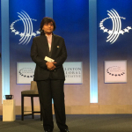 Nanobiosym Chairman and CEO Dr. Anita Goel announced a Commitment to Action at the Clinton Global Initiative (Photo: Business Wire).