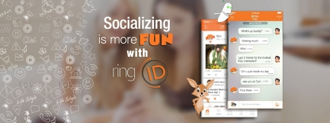 Socializing is More Fun with ringID (Photo: Business Wire)