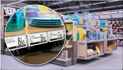 Altierre's W tags are the lowest cost graphical digital price tags on the market. (Photo: Business Wire)