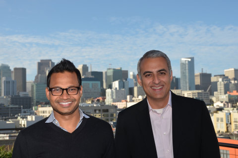 AppDynamics founder, executive chairman and chief strategist Jyoti Bansal on left, and the company's new chief executive officer David Wadhwani on right. (Photo: Business Wire)