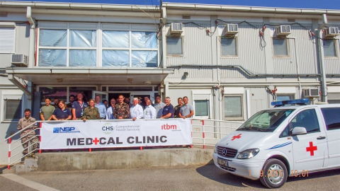 Ribbon cutting for Comprehensive Health Services-run NATO medical clinic in Kosovo on September 1st. ...
