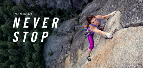 "The North Face unveiles first-ever global brand campaign, ""Never Stop,"" to change the way people vie ..."