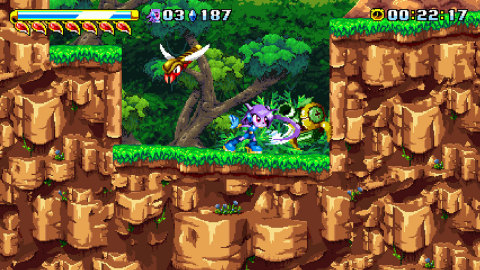 Freedom Planet is a cartoony, combat-based platform adventure that pits a spunky dragonoid and her friends against an alien attack force. (Photo: Business Wire)