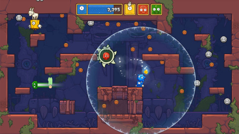 Toto Temple Deluxe is a fast-paced, local-multiplayer king-of-the-hill style game, in which players must steal an egg-laying goat from their friends and try to keep it on their own head for as long as possible. (Photo: Business Wire)