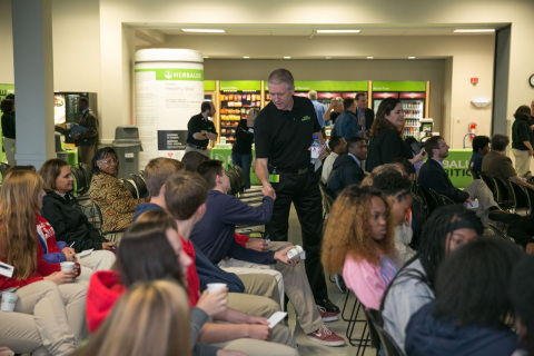 Local students visited the Herbalife Innovation & Manufacturing facility in Winston-Salem, N.C., tod ...