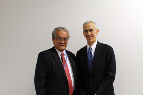 Tony deBrum with U.S. Special Envoy for Climate Change Todd Stern, 2013. Photo: Right Livelihood Awa ...