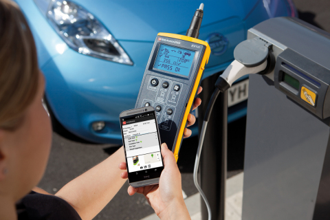 The new Seaward EV100 is a dedicated tester for EV charging points (Photo: Business Wire)