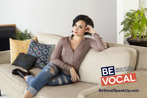 Be Vocal Demi Lovato on couch (Photo: Business Wire).